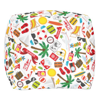 Pattern Summer holiday travel south sea Pouf