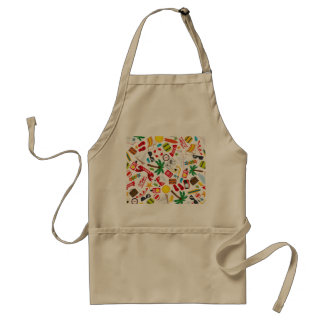Pattern Summer holiday travel south sea Standard Apron