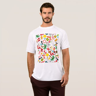 Pattern Summer holiday travel south sea T-Shirt