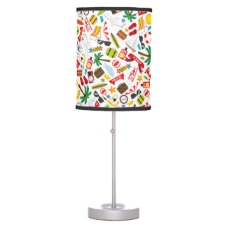 Pattern Summer holiday travel south sea Table Lamp