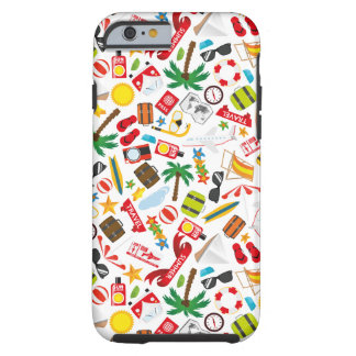 Pattern Summer holiday travel south sea Tough iPhone 6 Case