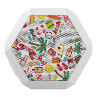 Pattern Summer holiday travel south sea White Bluetooth Speaker