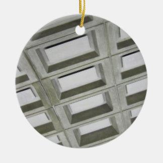 Pattern tile ceiling round ceramic ornament