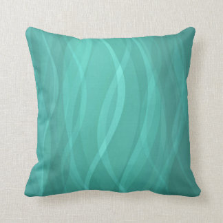 Pattern toned steamy jade waters abstract pillow
