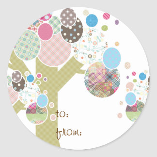 PATTERN TREES CLASSIC ROUND STICKER