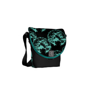 Pattern Turquoise Black Commuter Bag