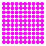 Pattern: White Background with Pink Circles Custom Invitations
