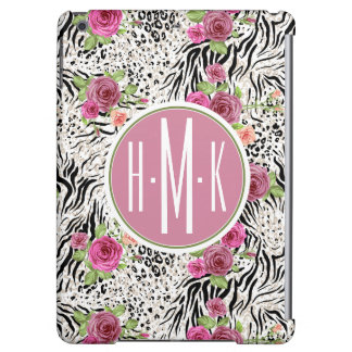 Pattern With Animal Prints   Monogram iPad Air Cover