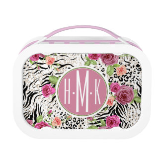 Pattern With Animal Prints | Monogram Lunch Boxes