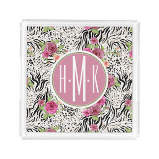 Pattern With Animal Prints | Monogram Perfume Tray