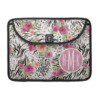 Pattern With Animal Prints | Monogram Sleeves For MacBook Pro