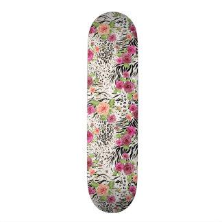 Pattern With Animal Prints Skate Decks