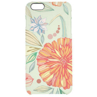 Pattern with asters clear iPhone 6 plus case