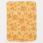 Pattern with autumn leaves baby blanket