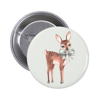 Pattern with Baby Deer 1 2 Inch Round Button