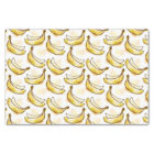 Pattern with banana tissue paper