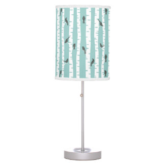 Pattern with birds and trees table lamp