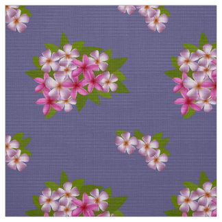 Pattern with bouquet of the plumeria fabric