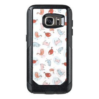 pattern with cartoon birds OtterBox samsung galaxy s7 case