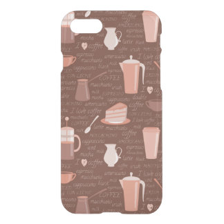 Pattern with coffee related elements iPhone 7 case