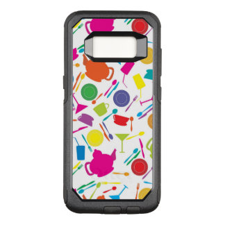 Pattern With Colored Kitchen Stuff OtterBox Commuter Samsung Galaxy S8 Case
