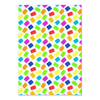 Pattern with colored spots of pastel crayon card