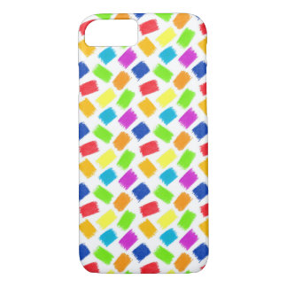 Pattern with colored spots of pastel crayon iPhone 8/7 case