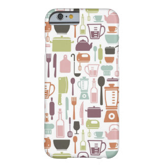 Pattern with colorful cooking icons barely there iPhone 6 case