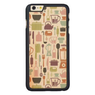Pattern with colorful cooking icons carved® maple iPhone 6 plus case