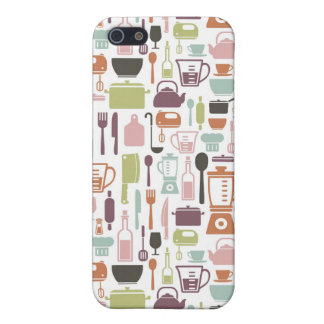 Pattern with colorful cooking icons case for the iPhone 5