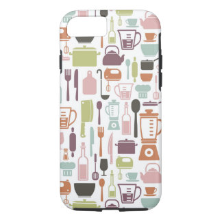 Pattern with colorful cooking icons iPhone 7 case