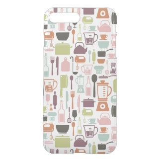 Pattern with colorful cooking icons iPhone 7 plus case