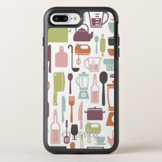Pattern with colorful cooking icons OtterBox symmetry iPhone 7 plus case