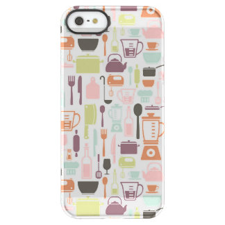 Pattern with colorful cooking icons permafrost® iPhone SE/5/5s case