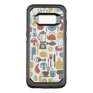 Pattern with cooking icons OtterBox commuter samsung galaxy s8 case