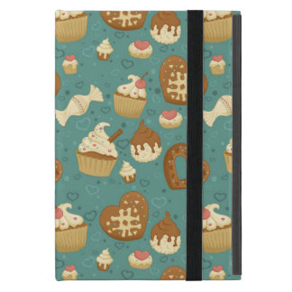 Pattern with cupcakes and candies cases for iPad mini