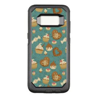 Pattern with cupcakes and candies OtterBox commuter samsung galaxy s8 case