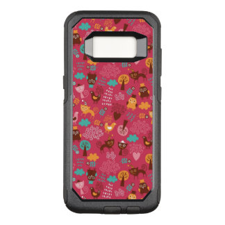 Pattern with cute birds and cats OtterBox commuter samsung galaxy s8 case