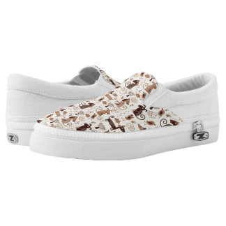 pattern with cute dogs Slip-On sneakers