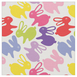 pattern with Easter rabbits Fabric