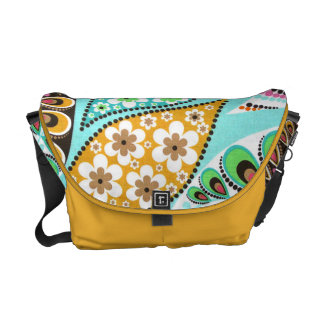 pattern with flowers courier bags