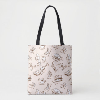 Pattern With Food Tote Bag