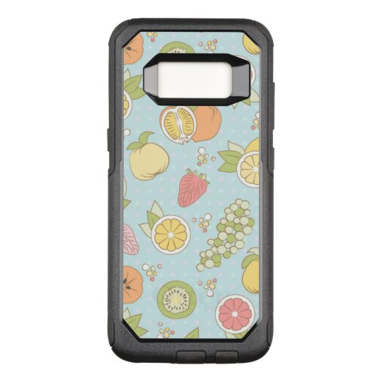 Pattern With Fruits And Berries OtterBox Commuter Samsung Galaxy S8 Case