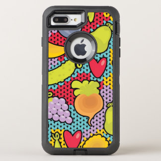 Pattern with fruits and vegetables OtterBox defender iPhone 7 plus case