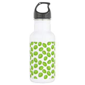 Pattern with  green olives 532 ml water bottle