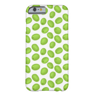 Pattern with  green olives barely there iPhone 6 case