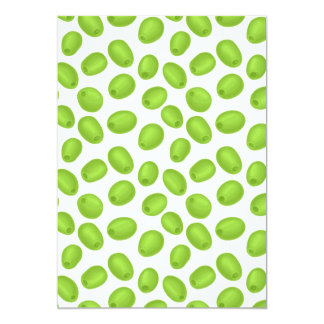 Pattern with  green olives card