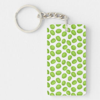 Pattern with  green olives Double-Sided rectangular acrylic keychain