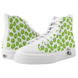 Pattern with  green olives high tops
