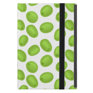 Pattern with  green olives iPad mini cover